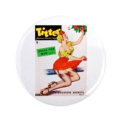 Titter Vintage Pin Up Girl in Red 3.5