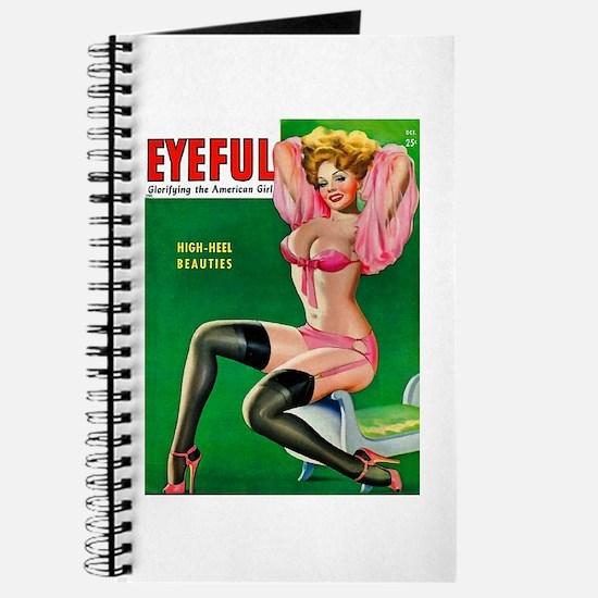 Eyeful Vintage Pin Up Girl in Pink Journal