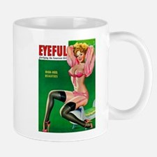 Eyeful Vintage Pin Up Girl in Pink Mug