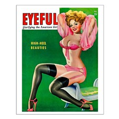 Eyeful Vintage Pin Up Girl in Pink Posters