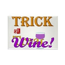 Halloween Trick or Wine! Rectangle Magnet