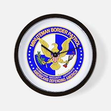 mx Minuteman Border Patrol Wall Clock