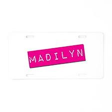 Madilyn Punchtape Aluminum License Plate