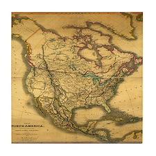 North America 1849 Tile Coaster