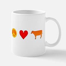 Peace Love Cow Mug