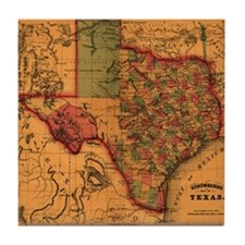Texas 1866 Tile Coaster