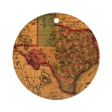 Texas 1866 Ornament (Round)