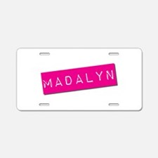Madalyn Punchtape Aluminum License Plate