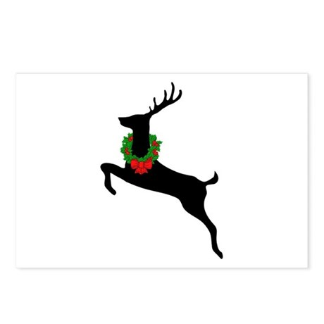 Stag & Wreath Postcards (Package of 8)