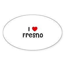 I * Fresno Oval Decal