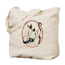 Two Siamese Cats Tote Bag