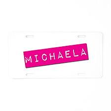 Michaela Punchtape Aluminum License Plate