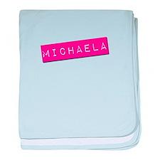 Michaela Punchtape baby blanket