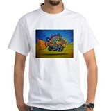 Hot fish Mens White T-shirts