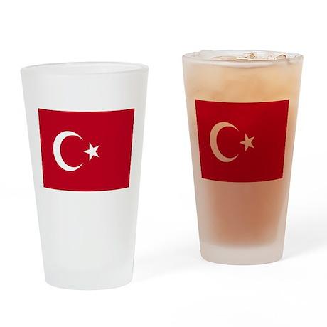Turkish Flag Drinking Glass