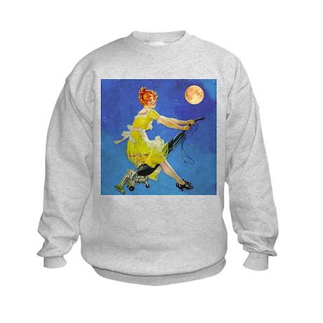 Modern Electric Witch Kids Sweatshirt