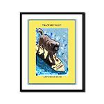 """""""Surfing Dog"""" Framed Panel Print"""