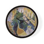"""Gondolier of Venice"" Wall Clock"