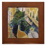 """""""Gondolier of Venice"""" Framed Tile"""