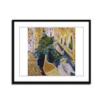 """Gondolier of Venice"" Framed Panel Print"