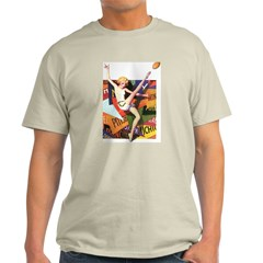 Football Season Ash Grey T-Shirt