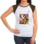 Football Season Women's Cap Sleeve T-Shirt