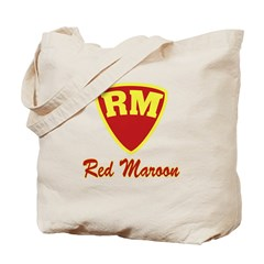 Castle Red Maroon Logo Tote Bag