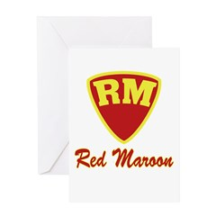 Castle Red Maroon Logo Greeting Card