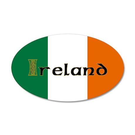 Irish Flag / Eire 35x21 Oval Wall Peel