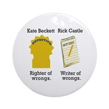 Castle - Righter Writer of Wrongs Ornament (Round)