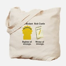 Castle - Righter Writer of Wrongs Tote Bag