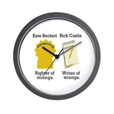 Castle - Righter Writer of Wrongs Wall Clock