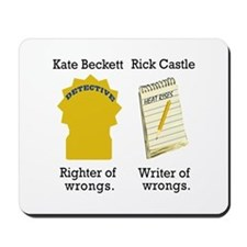 Castle - Righter Writer of Wrongs Mousepad