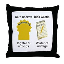 Castle - Righter Writer of Wrongs Throw Pillow