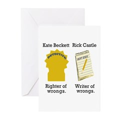 Castle - Righter Writer of Wrongs Greeting Cards (