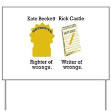 Castle - Righter Writer of Wrongs Yard Sign