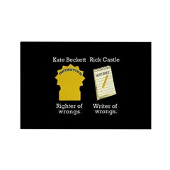 Castle - Righter Writer of Wrongs Rectangle Magnet