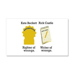 Castle - Righter Writer of Wrongs Car Magnet 20 x