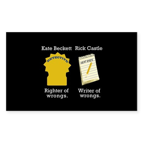 Castle - Righter Writer of Wrongs Sticker (Rectang