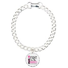 Fight For My Breast Cancer Charm Bracelet, One Cha