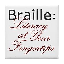 Tile Coaster - Braille Literacy