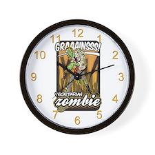 Vegetarian Zombie Wall Clock