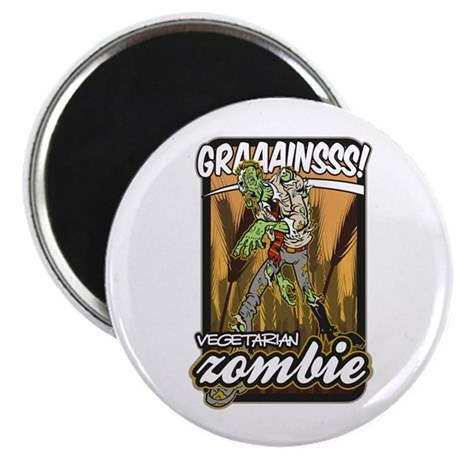 """Vegetarian Zombie 2.25"""" Magnet (10 pack)"""