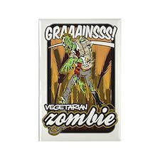 Vegetarian Zombie Rectangle Magnet