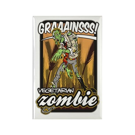 Vegetarian Zombie Rectangle Magnet