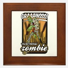 Vegetarian Zombie Framed Tile