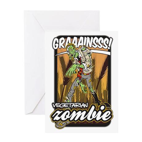 Vegetarian Zombie Greeting Card