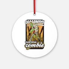 Vegetarian Zombie Ornament (Round)
