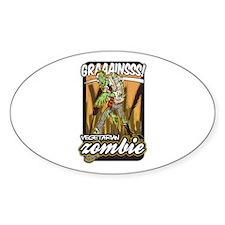 Vegetarian Zombie Decal