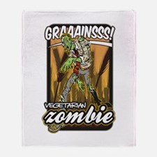 Vegetarian Zombie Throw Blanket